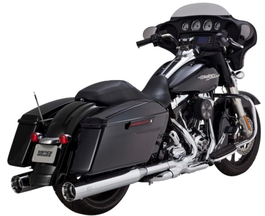 Vance & Hines Oversized 450 Titan Slip-Ons - Chrome Motorcycle Street - 16549