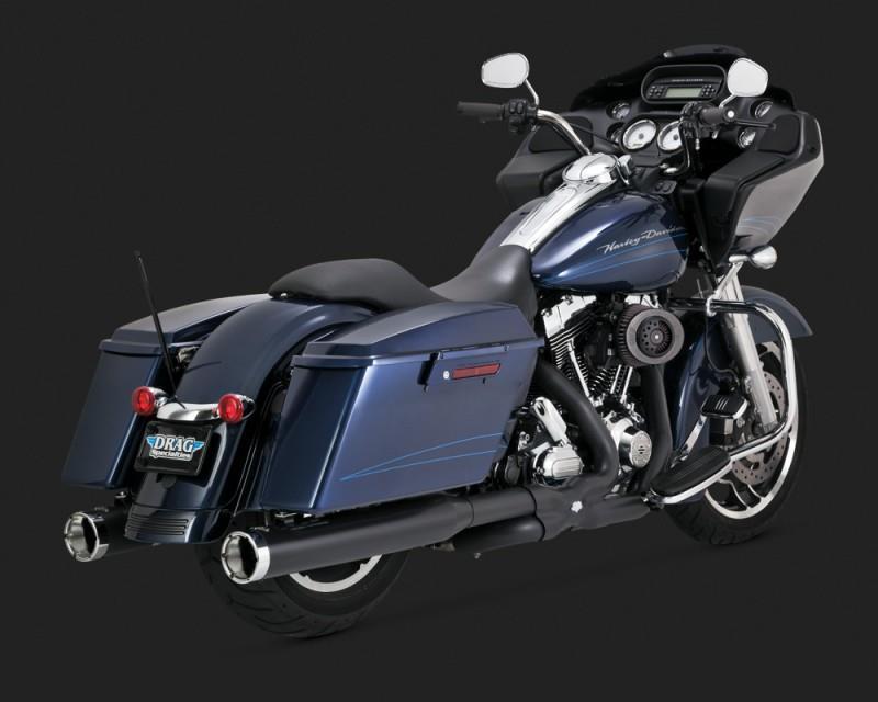 Vance & Hines Power Duals Head Pipes - Black Motorcycle Street - 46832