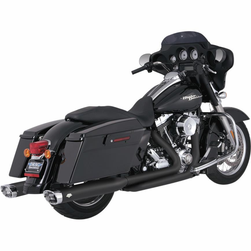 Vance & Hines Dresser Duals Head Pipes - Black Motorcycle Street - 46752