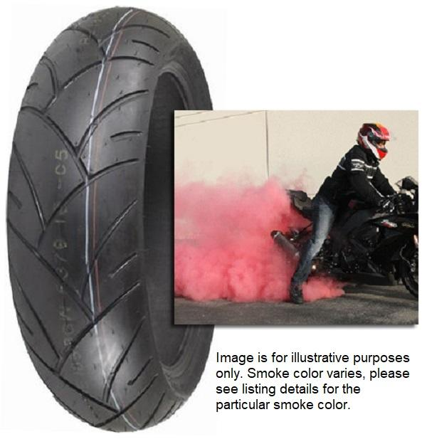 Shinko R005 Smoke Bomb 190 50zr17 Red Smoke Rear Motorcycle Street