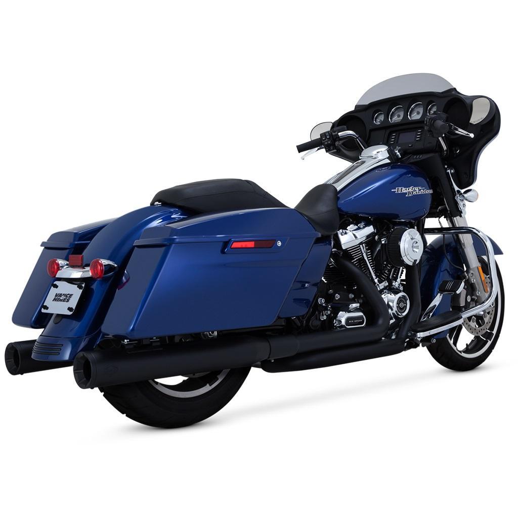 Vance & Hines Black Dresser Dual Header System Motorcycle Street - 47651