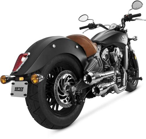 Vance & Hines Hi-Output Grenades 2-Into-2 Exhaust - Chrome/chrome Motorcycle Street - 18554
