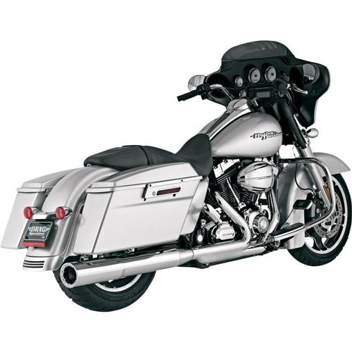 Vance & Hines 4 1/2in. Hi-Output Slip-On - Chrome Motorcycle Street - 16455