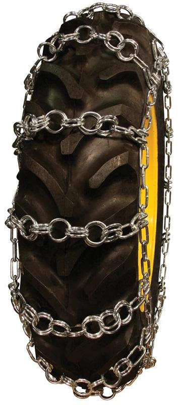 Double Ring Pattern 18.4-24 Tractor Tire Chains