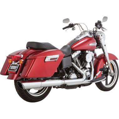 Vance & Hines Twin Slash 2:1 Slip-On - Chrome Motorcycle Street - 16801