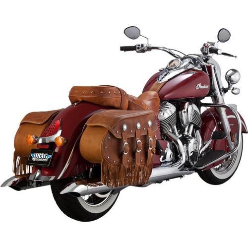 Vance & Hines Turndown Slip-Ons - Chrome Motorcycle Street - 18533