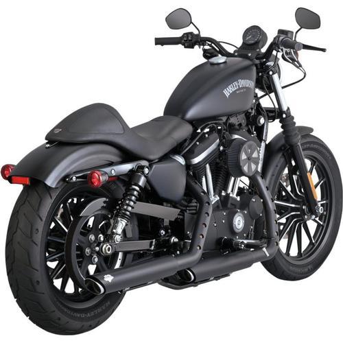 Vance & Hines Twin Slash 3in. Slip-Ons - Black Motorcycle Street - 46861