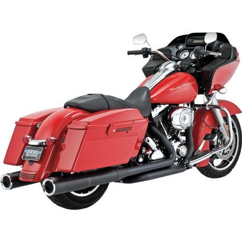Vance & Hines 4 1/2in. Hi-Output Slip-On - Black Motorcycle Street - 46759