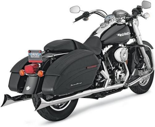 Vance & Hines Fishtail Slip-Ons - Chrome Motorcycle Street - 16775