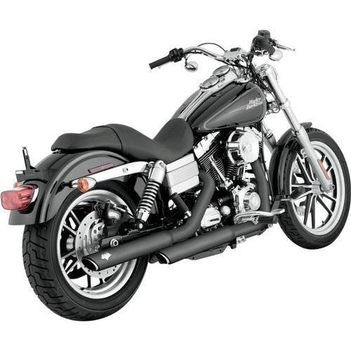 Vance & Hines Twin Slash 3in. Slip-Ons - Black Motorcycle Street - 46837