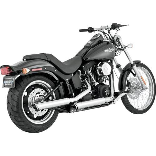Vance & Hines Twin Slash 3in. Slip-Ons - Chrome Motorcycle Street - 16835