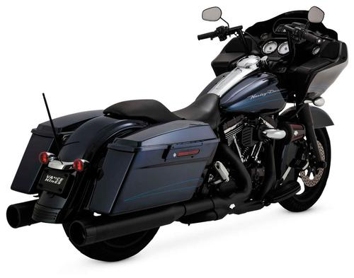 Vance & Hines Oversized 450 Raider Slip-Ons - Black Motorcycle Street - 46557