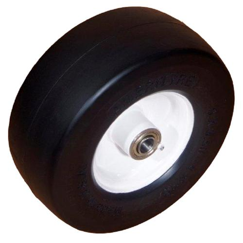 "Amerityre Solid Smooth 11-4.00-5 Mower White Centered Hub 3.25"" HL 3/4"" Bearing LD 340lbs"