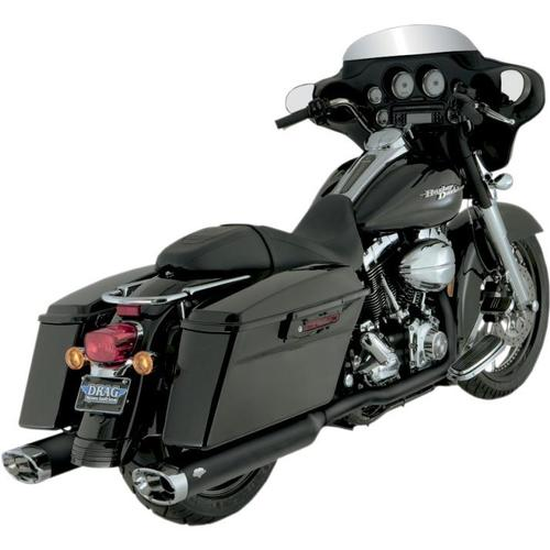 Vance & Hines Dresser Duals Head Pipes - Black Motorcycle Street - 46799