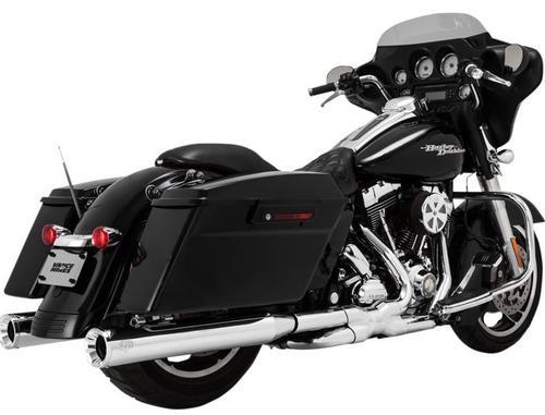 Vance & Hines 4in. Eliminator 400 Slip-On - Chrome Motorcycle Street - 16703