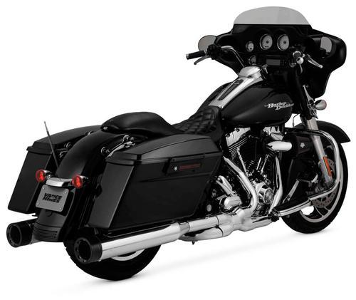 Vance & Hines Oversized 450 Destroyer Slip-Ons - Chrome/Black Motorcycle Street - 16555