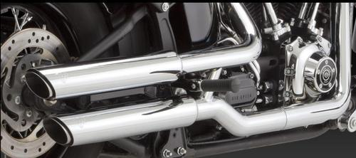 Vance & Hines Twin Slash 3in. Slip-Ons - Chrome Motorcycle Street - 16841