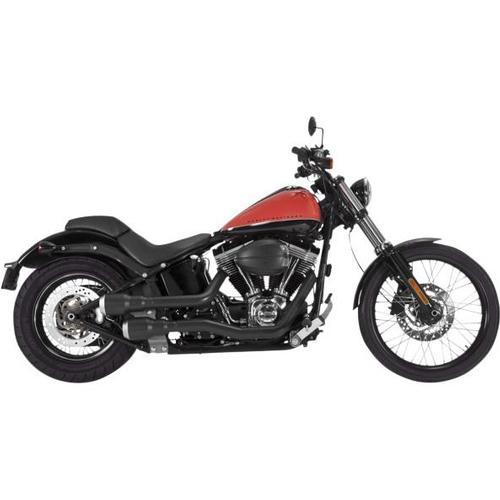 Vance & Hines Hi-Output Grenades 2-Into-2 Exhaust - Black/Pearl Nickel Motorcycle Street - 46848