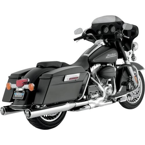 Vance & Hines Monster Round Slip-Ons - Chrome With Chrome Tips Motorcycle Street - 16773