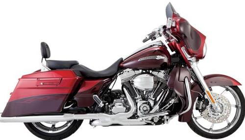 Vance & Hines Monster Rounds Catalytic Slip-On - Chrome Motorcycle Street - 16857