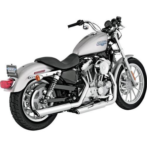 Vance & Hines Twin Slash 3in. Slip-Ons - Chrome Motorcycle Street - 16839