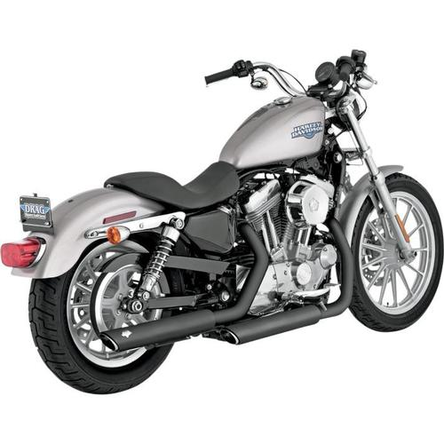 Vance & Hines Twin Slash 3in. Slip-Ons - Black Motorcycle Street - 46839
