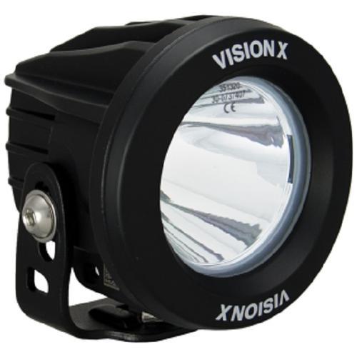 Vision X Optimus Round Black 3.74& 10 Degree 10w LED Light Set (Pair) ATV - UTV - XIL-OPR110KIT