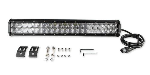 Bright Earth 20& LED Straight Double Row Chrome Reflector Light Bar With Adjustable Base Mount ATV - UTV - LB20ADJ-BEL