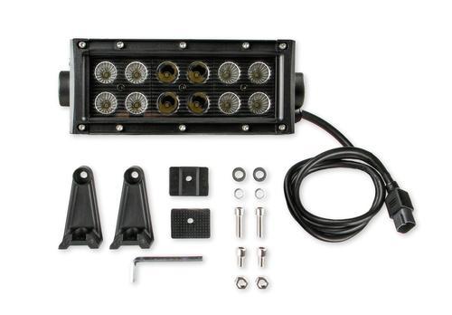 Bright Earth 7.5& LED Straight Double Row Light Bar With Black Reflector ATV - UTV - LB6BK-BEL