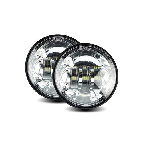 Cyron Integrated 30w 4.5& Chrome Passing Lamp Kit Motorcycle Street - ABIG4.5-A6KC