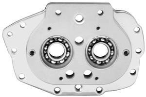 JIMS Trap Door Assembly With Exhaust Mount For Small Bearing - Polished Motorcycle Street - 2347-7B